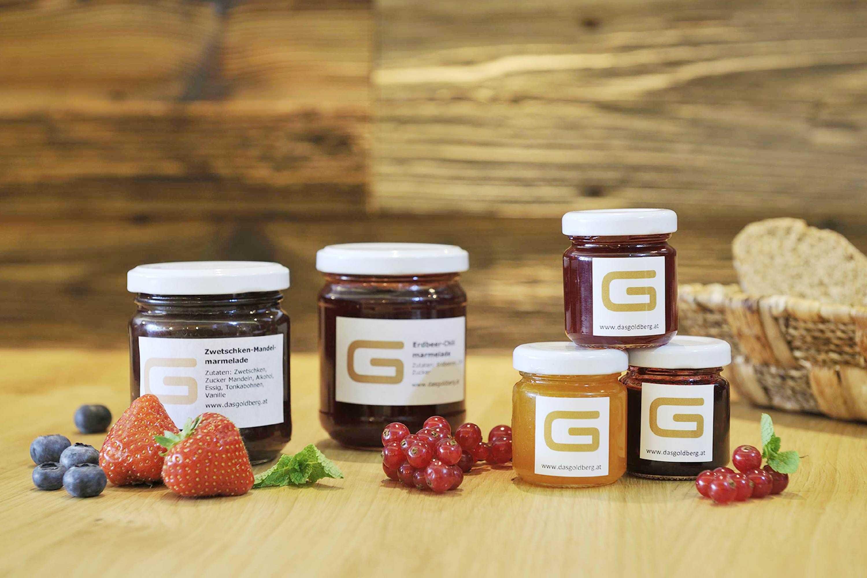 Hausgemachte Marmeladen auch zum Mitnehmen nach Hause